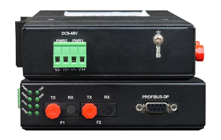 飞畅科技-工业轨式 环网型1路Profibus-DP光端机 点对点光猫