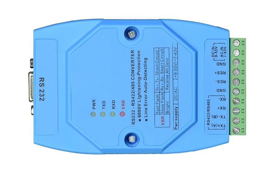 飞畅科技-智能RS232转RS422-485串口转换器