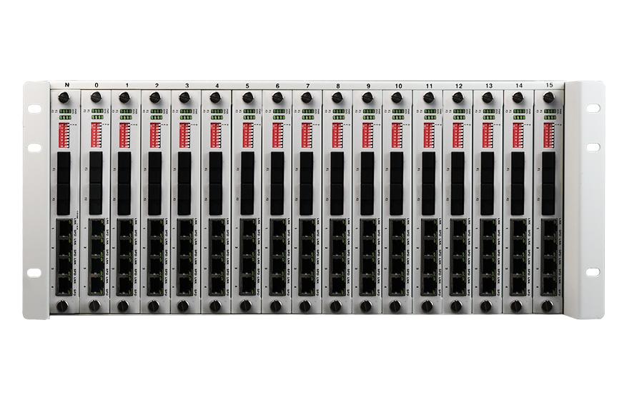 飞畅科技-4U机框式 网管型 4千兆电+2路千兆光 环网交换机